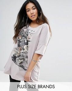 Платье-футболка с черепом Religion Plus - Серый