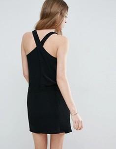 Платье-комбинация See U Soon - Черный