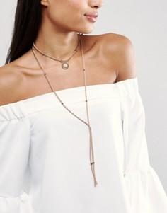Многоярусное ожерелье-чокер DesignB - Золотой