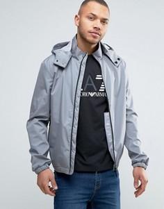 Серая непромокаемая куртка со съемным капюшоном Armani Jeans - Серый d9b725deb4f