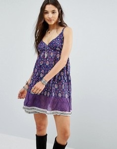 Платье на тонких бретельках Raga - Фиолетовый