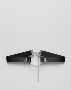 Чокер с шестигранником ASOS - Черный