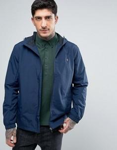 Темно-синяя куртка-дождевик с капюшоном Farah Newbern - Темно-синий