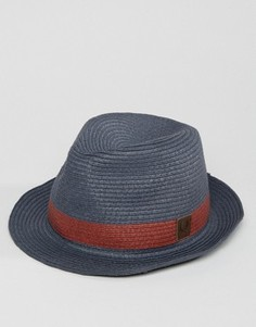 Темно-синяя соломенная шляпа Fred Perry - Темно-синий