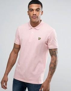 Розовое поло классического кроя из пике с логотипом-орлом Lyle & Scott - Розовый