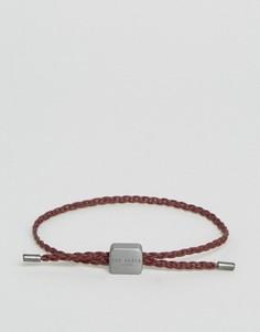 Красный плетеный кожаный браслет Ted Baker - Красный