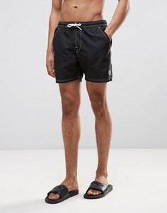 Черные шорты для плавания с маленьким логотипом Timberland - Черный