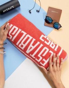 Пляжное полотенце с логотипом ONeill - Красный Oneill