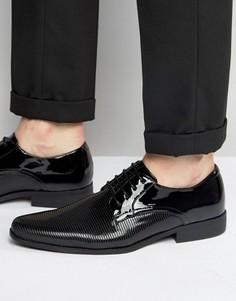 Черные лакированные туфли дерби ASOS - Черный