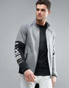 Спортивная хлопковая куртка Reebok One Series Quick - Серый