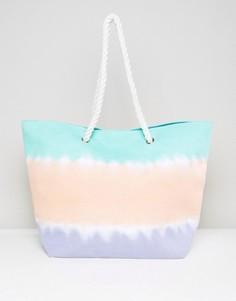 Пляжная сумка с веревочными ручками и принтом тай-дай South Beach - Мульти