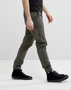 Зауженные спортивные брюки-карго цвета хаки с контрастными карманами ASOS - Зеленый