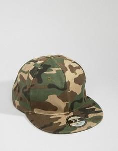 Бейсболка в стиле милитари с камуфляжным принтом 7X - Зеленый
