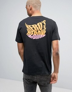 Черная футболка с логотипом на спине Heros Heroine - Черный