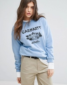 Свитшот с принтом Carhartt WIP - Синий