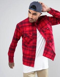 Фланелевая рубашка в клетку классического кроя Brixton - Красный