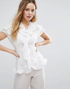 Блузка с рюшами Jasmine - Белый