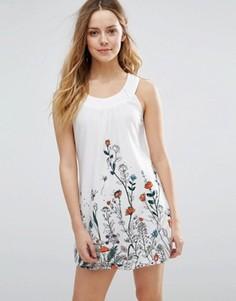 Цельнокройное платье с цветочным принтом Jasmine - Белый