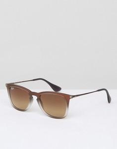 Солнцезащитные очки-вайфареры в коричневой оправе Ray-Ban - Коричневый