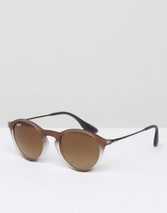 Солнцезащитные очки в круглой коричневой оправе Ray-Ban - Коричневый