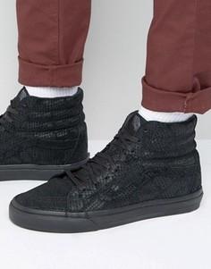 Черные кроссовки с узором под змеиную кожу Vans Sk8-HI Reissue Dx - Черный