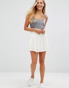 Мини-юбка с сетчатой отделкой Maison Scotch - Белый