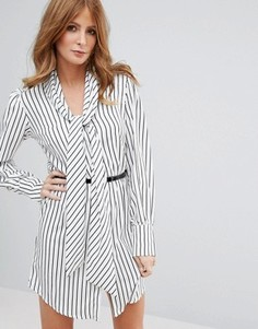 Платье в полоску с поясом Millie Mackintosh - Мульти