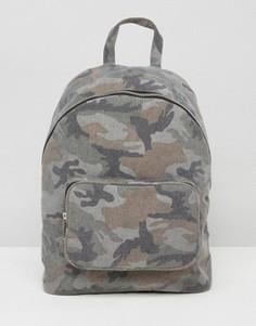 Камуфляжный парусиновый рюкзак ASOS - Мульти