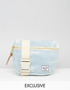 Джинсовая выбеленная сумка-пояс Herschel Supply Co. - Синий