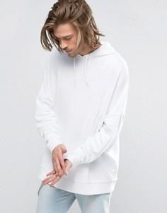 Oversize-худи белого цвета ASOS - Белый