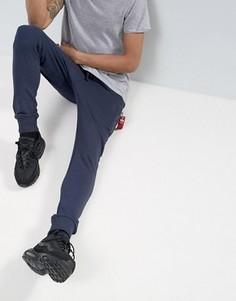 Серые меланжевые спортивные штаны узкого кроя с логотипом Alpha Industries - Серый