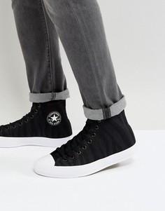 Высокие черные кеды с верхом из ткани Converse Chuck Taylor All Star II 155493C - Черный