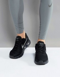 Черные кроссовки Nike Running Air Max 2017 849559-001 - Серый