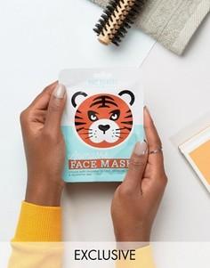 Листовые маски для лица в виде животных ASOS - Тигр - Бесцветный Beauty Extras