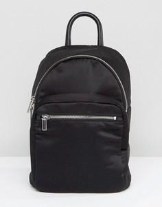 Атласный рюкзак Monki - Черный
