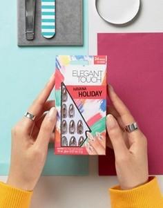 Накладные ногти заостренной формы с эффектом металлик Elegant Touch Holiday Collection - Розовый