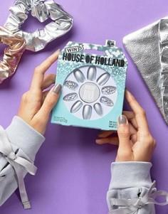 Накладные ногти House of Holland Luxe by Elegant Touch - Diamond Diva - Серебряный