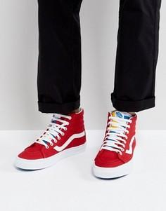 Красные кроссовки Vans Sk8-Hi Reissue VA2XSBMXE - Красный