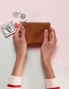 Светло-коричневый замшевый кошелек для мелочи Jack Wills - Рыжий