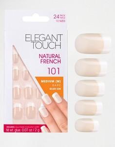 Накладные ногти средней длины Elegant Touch - Французский маникюр 101 - Розовый