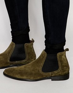Замшевые ботинки челси Base London - Зеленый