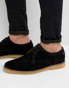Замшевые туфли дерби Base London Whitlock - Черный