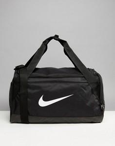 Черная большая спортивная сумка с логотипом-галочкой Nike - Черный