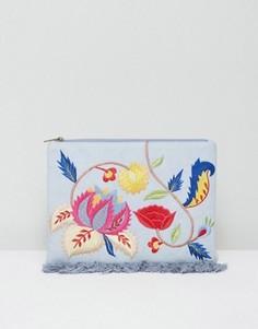 Джинсовый клатч с вышивкой Glamorous - Мульти