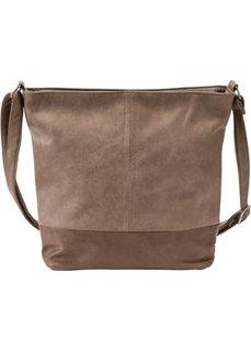 Двухцветная сумка-шопер (коричневый/светло-коричневый) Bonprix