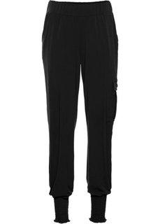 Трикотажные брюки (черный) Bonprix