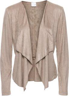Куртка из искусственной замши (серо-коричневый) Bonprix