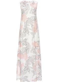 Длинное шифоновое платье (кремовый с узором пейсли) Bonprix
