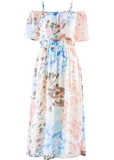 Шифоновое платье с принтом (светлый персиковый/лососевый с рисунком) Bonprix