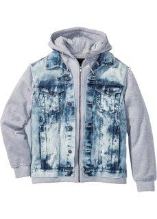 Джинсовая куртка Regular Fit (голубой выбеленный) Bonprix